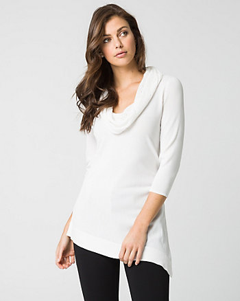 Viscose Blend Asymmetrical Sweater
