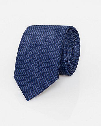 Geometric Print Woven Skinny Tie