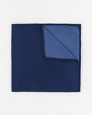 Geometric Print Woven Pocket Square