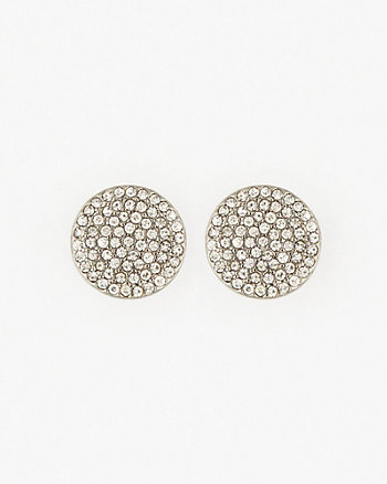 Gem Cluster Flat Stud Earrings