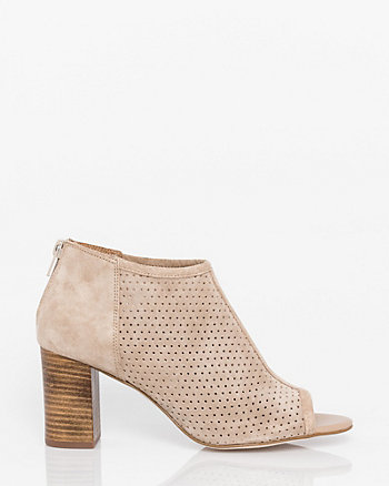 Suede Open Toe Shootie