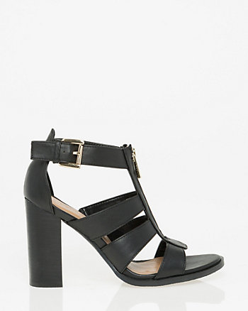 Leather-Like Gladiator Sandal