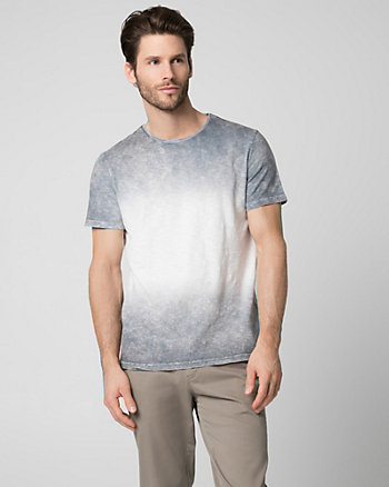 Tonal Cotton Slub Crew Neck Top