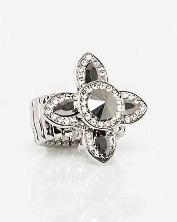 Floral Gem Cluster Ring