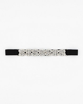 Gem Encrusted Elastic Belt