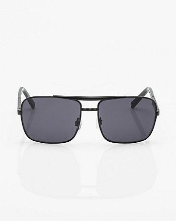 Metal Rectangular Frame Sunglasses