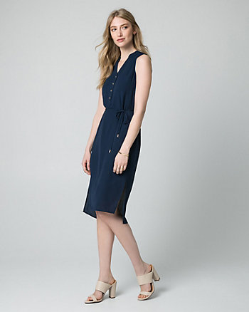 Crêpe de Chine Shirtdress