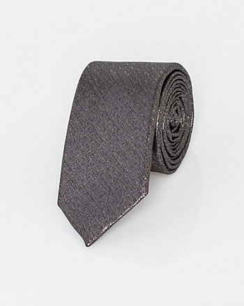 Italian-Made Novelty Print Silk Blend Tie