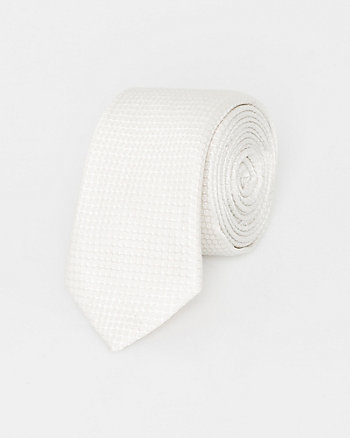Italian-Made Tonal Dot Print Silk Tie