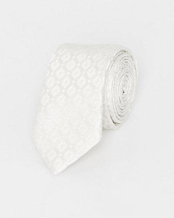 Italian-Made Tonal Novelty Print Silk Tie
