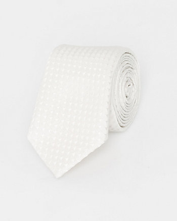 Italian-Made Tonal Novelty Print Silk Tie