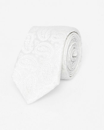 Italian-Made Tonal Paisley Print Silk Tie