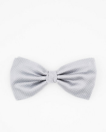 Italian-Made Micro Dot Print Silk Bow Tie
