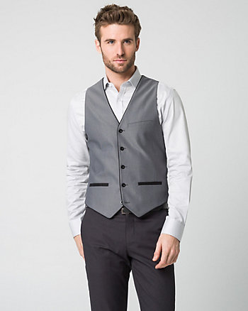 Two-Tone Woven City Fit Vest