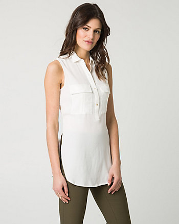 Viscose Utility Tunic Blouse