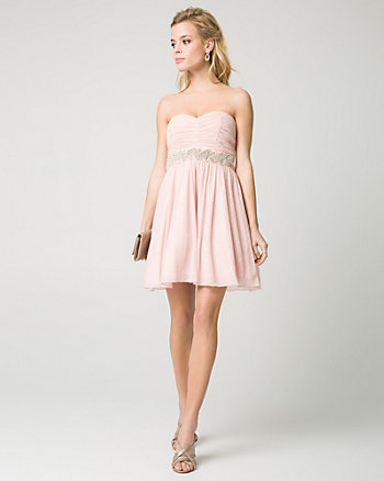 Sparkle Knit Sweetheart Party Dress
