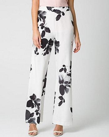 Floral Print Wide Leg Pant