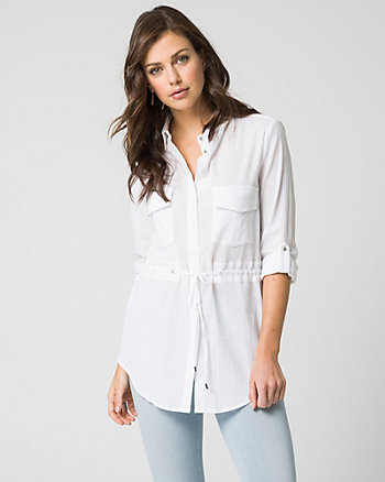 Cotton Utility Tunic Blouse