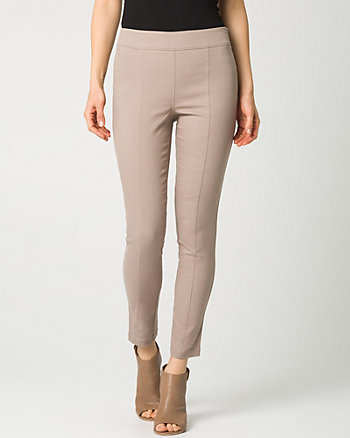 Cotton Twill Slim Leg Crop Pant