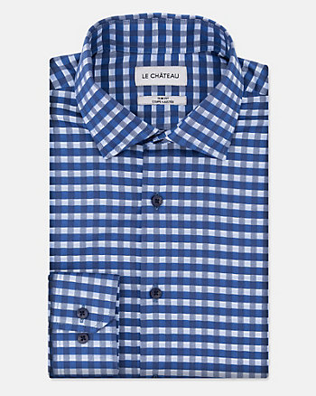 Check Cotton Twill Slim Fit Shirt