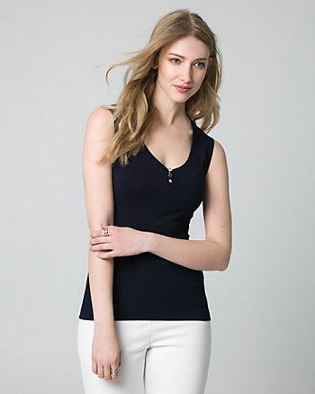 Viscose Blend Sweater Tank