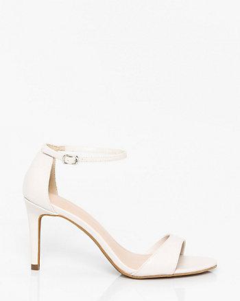 Faux Leather Ankle Strap Sandal