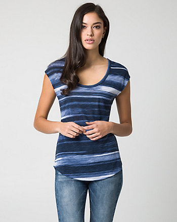 Stripe Jersey Knit Top
