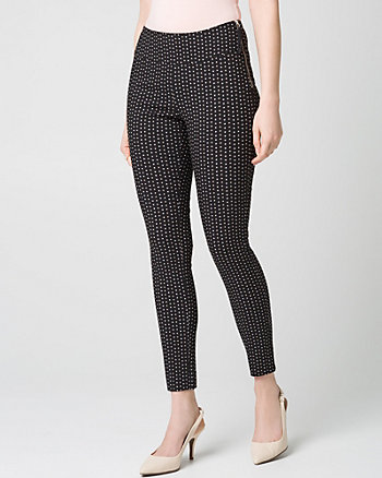 Diamond Print Tech Stretch Skinny Leg Pant