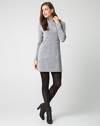 Jersey Knit Mock Neck Tunic Dress