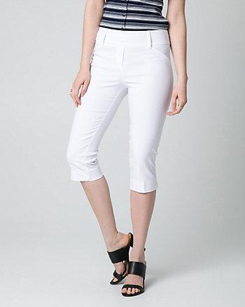 Pantalon court en tissu extensible