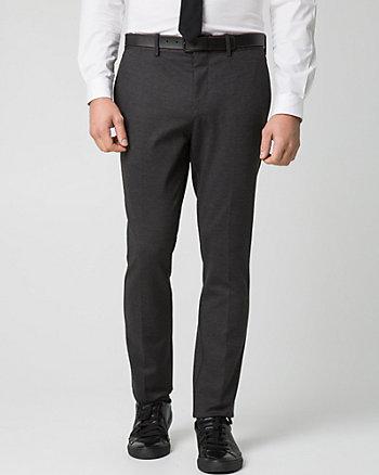 Check Print Woven Slim Leg Pant