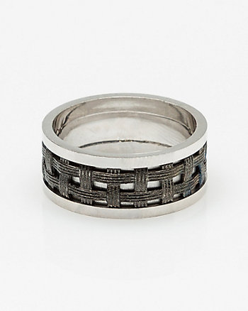 Silver Basket Weave Ring
