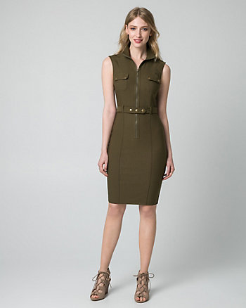 Tech Stretch Mock Neck Shirtdress