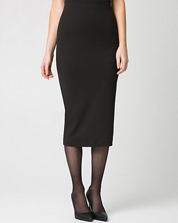 Knit Crêpe High Waist Pencil Skirt