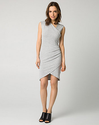Cut & Sew Faux Wrap Dress
