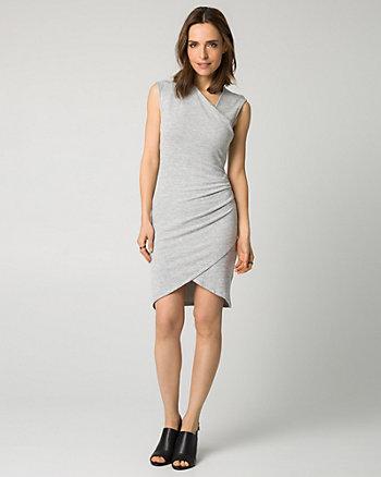 Cut & Sew Faux Wrap Dress