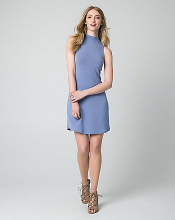 Jersey Mock Neck Mini Dress