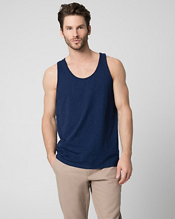 Cotton Slub Crew Neck Tank Top