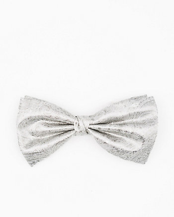 Italian-Made Paisley Silk Blend Bow Tie