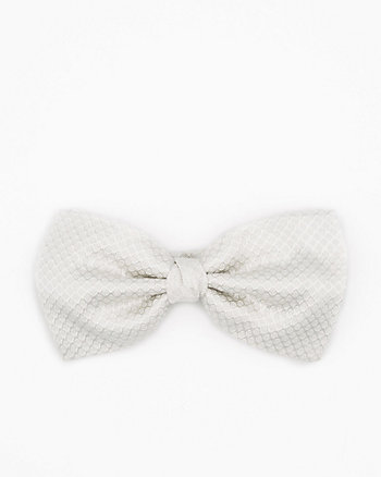 Italian-Made Tonal Dot Print Silk Bow Tie
