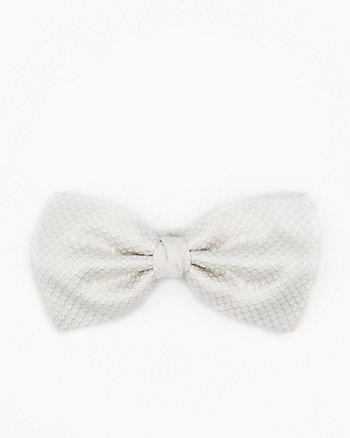 Italian-Made Tonal Dot Print Silk Bow Tie