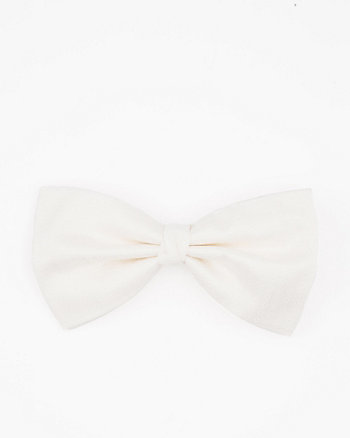 Italian-Made Dot Print Silk Bow Tie