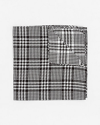 Italian-Made Houndstooth Silk Pocket Square