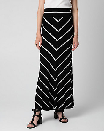 Stripe Jersey Maxi Skirt