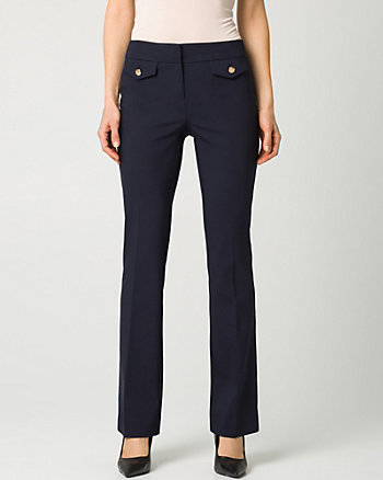 Cotton Blend Slight Flare Pant