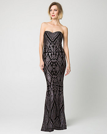Sparkle Knit Sweetheart Gown