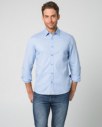 Tonal Cotton Tailored Fit Shirt