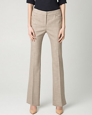Stretch Viscose Blend Slight Flare Pant