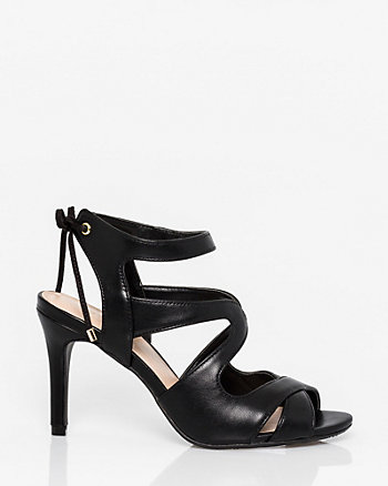 Leather-Like Cutout Sandal