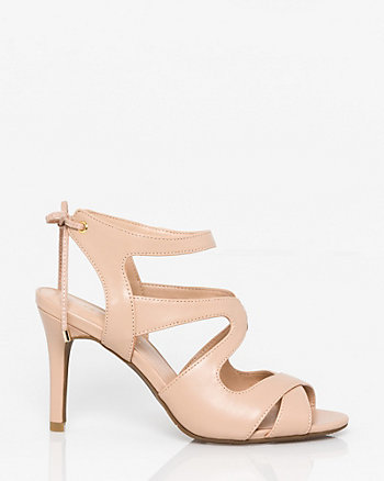 Faux Leather Cutout Sandal
